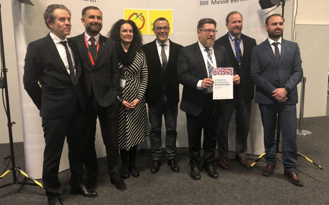 Impulso a la internacionalización del próximo Congreso de Frutos Rojos en Fruit Logística